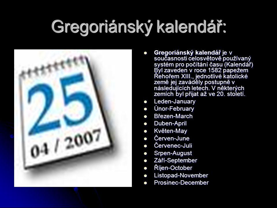 Gregoriánský kalendář: