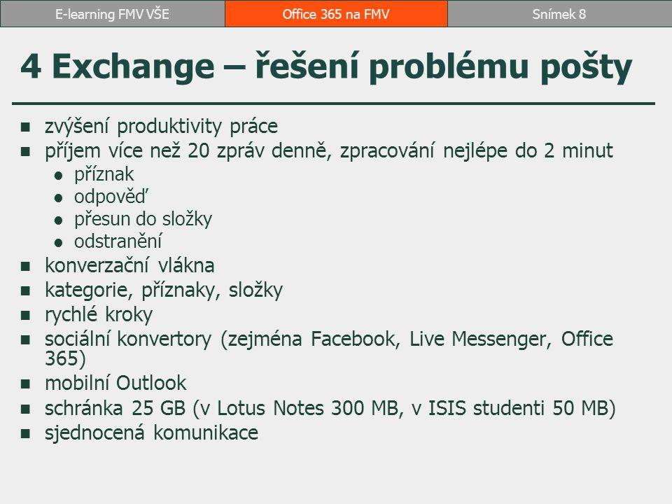 4 Exchange – řešení problému pošty