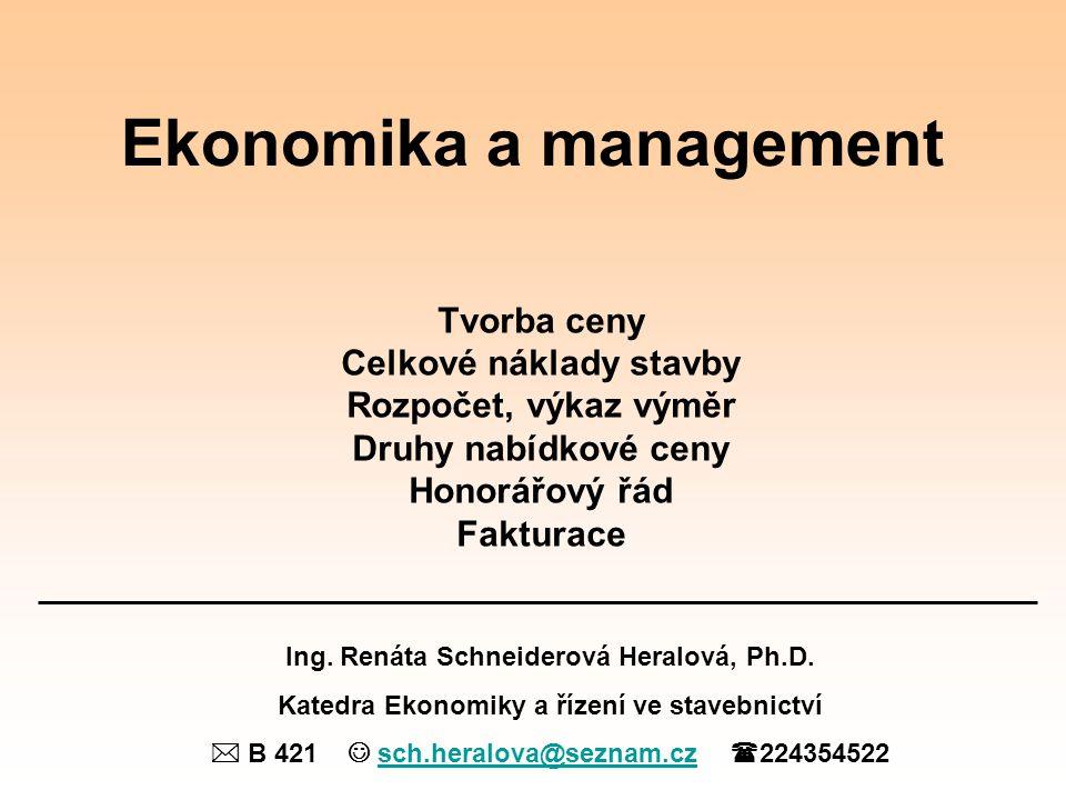 Ekonomika a management