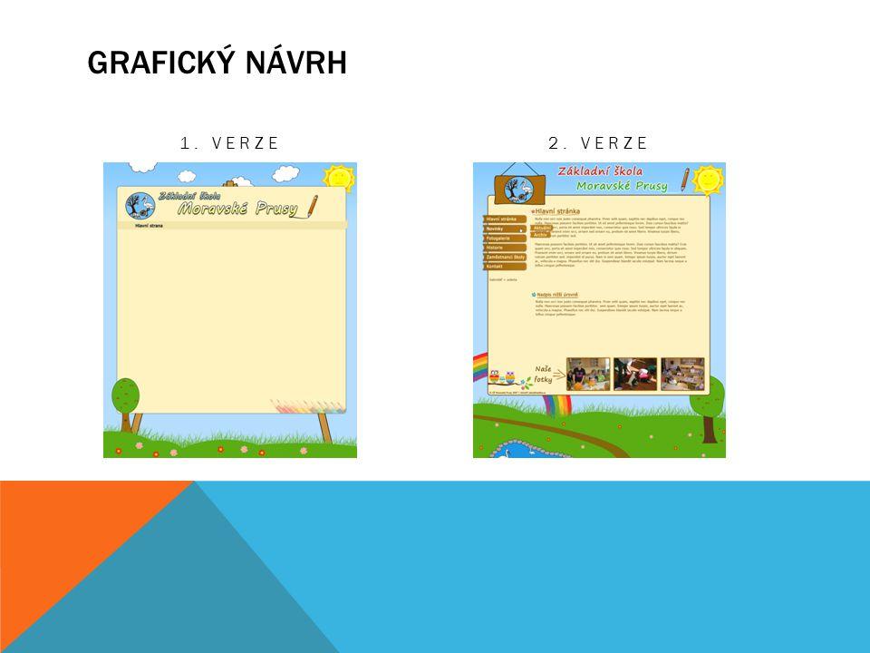 Grafický návrh 1. Verze 2. Verze