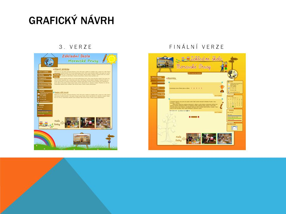 Grafický návrh 3. Verze Finální verze