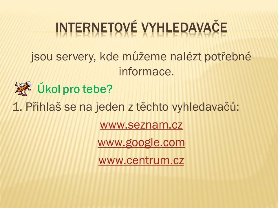 Internetové vyhledavače