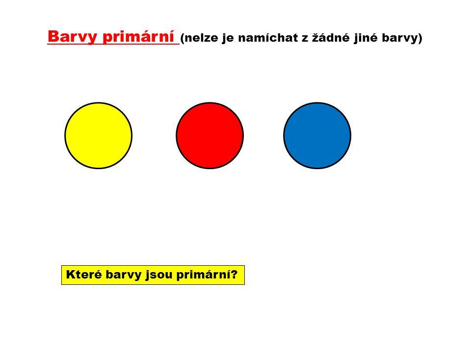 Barvy primární (nelze je namíchat z žádné jiné barvy)