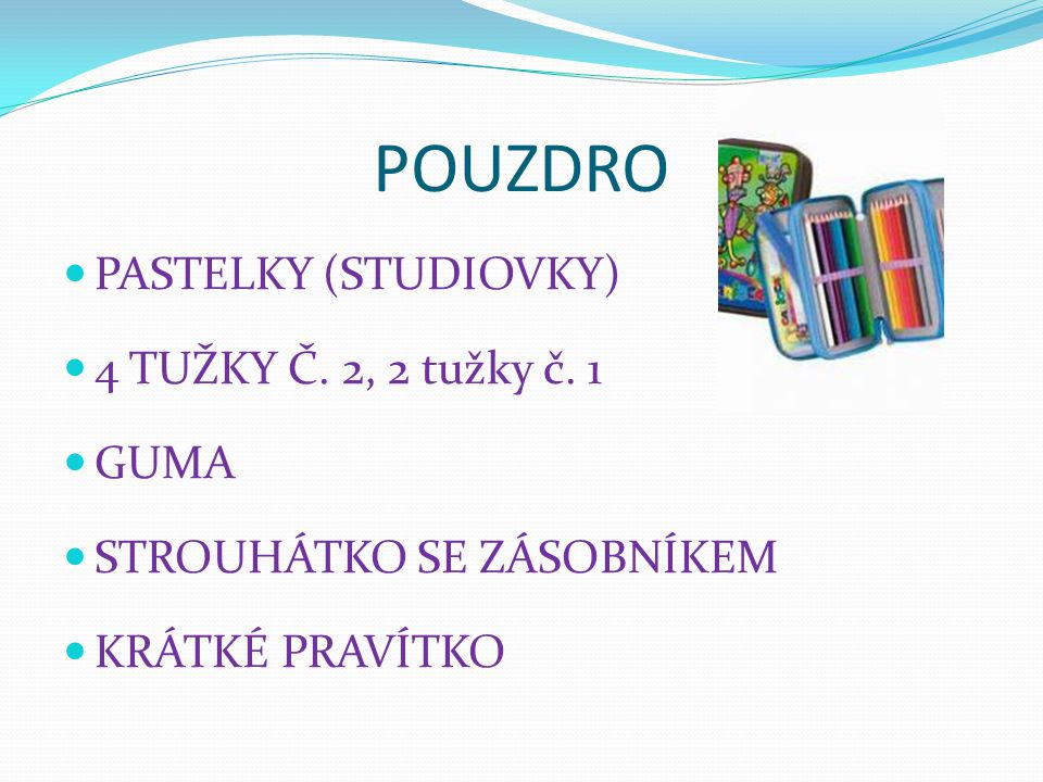 POUZDRO PASTELKY (STUDIOVKY) 4 TUŽKY Č. 2, 2 tužky č. 1 GUMA