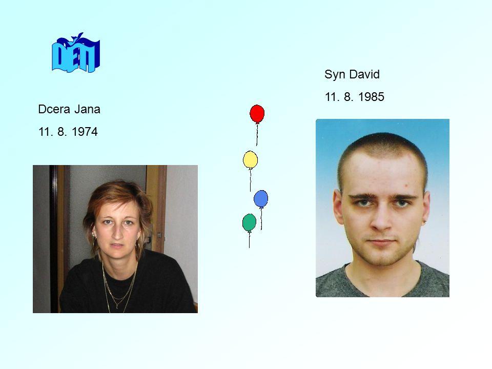 DĚTI Syn David 11. 8. 1985 Dcera Jana 11. 8. 1974