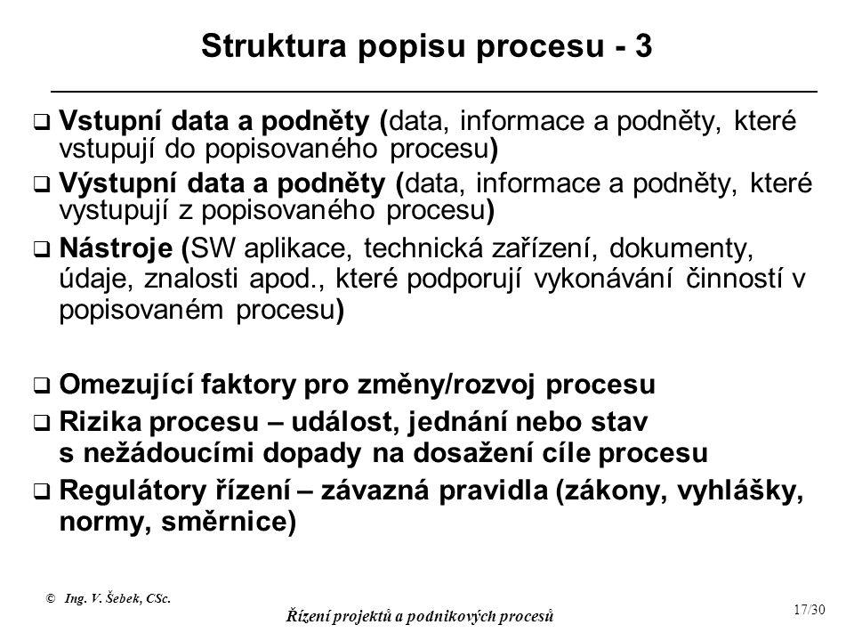 Struktura popisu procesu - 3