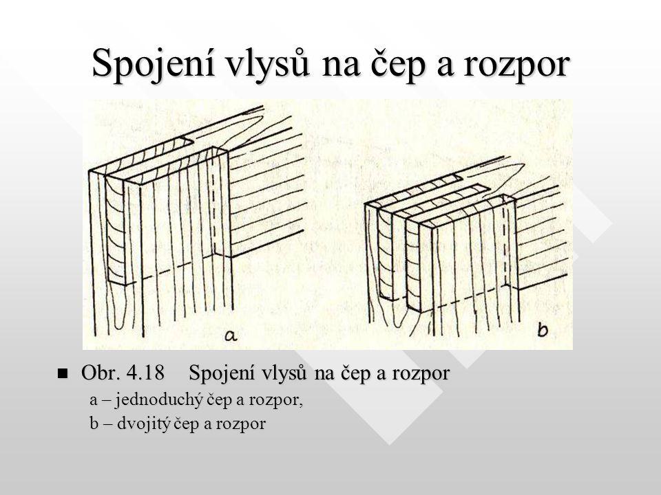 Spojení vlysů na čep a rozpor