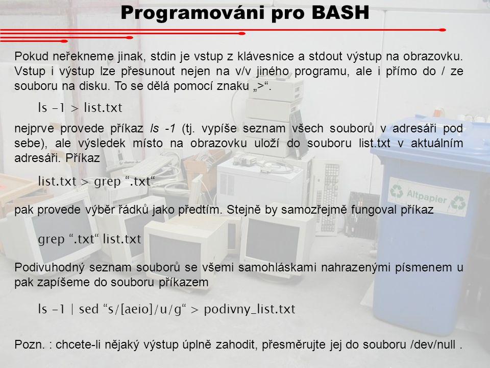 Programováni pro BASH
