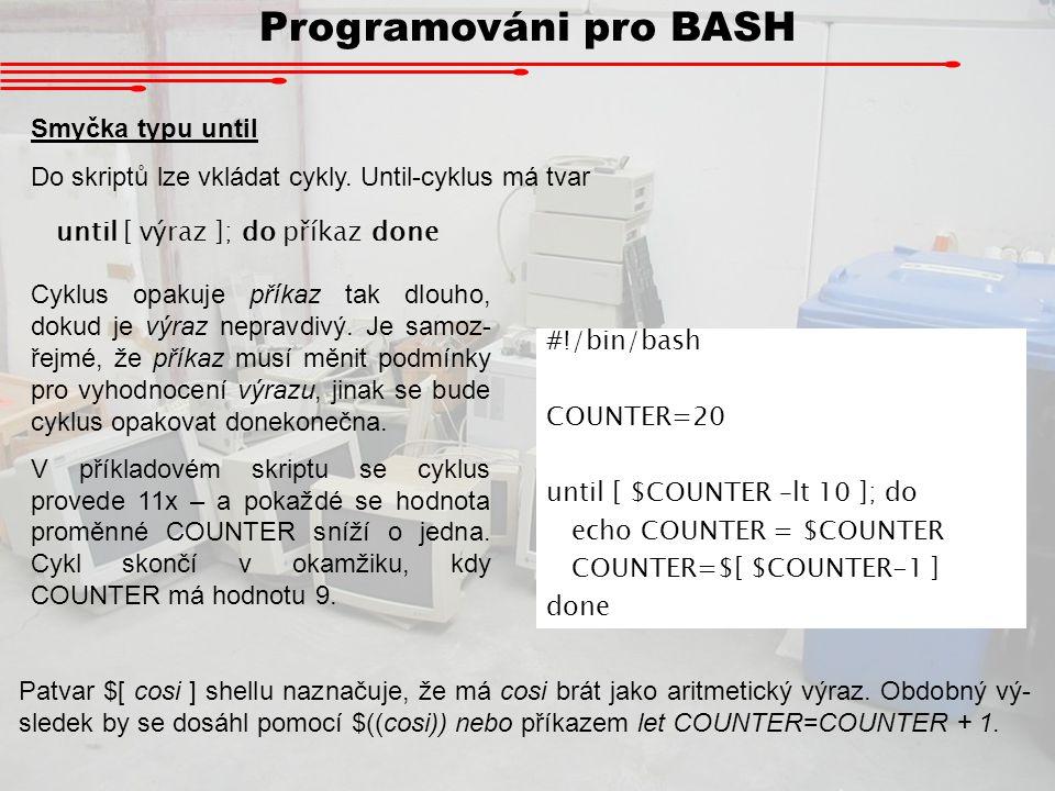 Programováni pro BASH Smyčka typu until