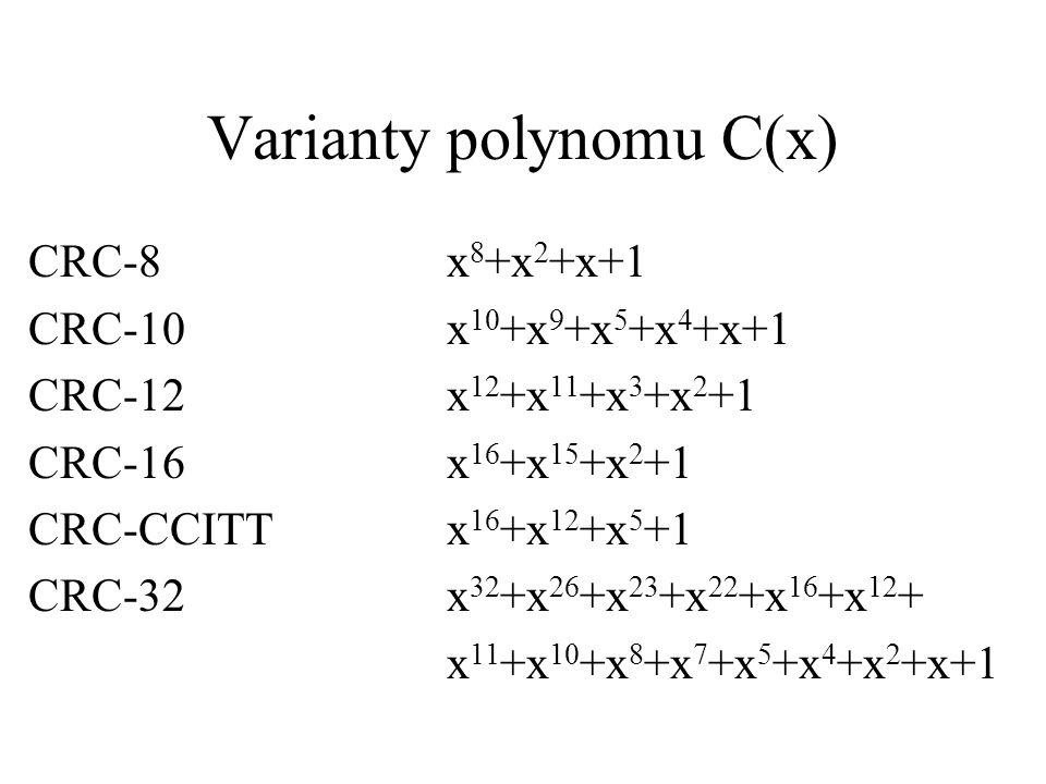 Varianty polynomu C(x)