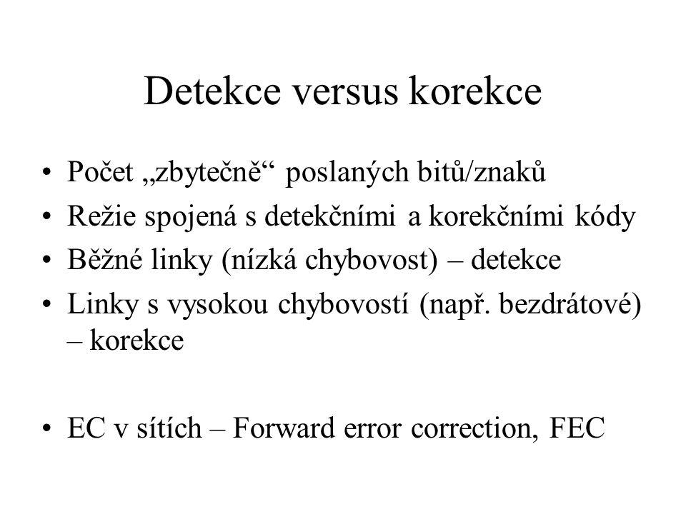 Detekce versus korekce