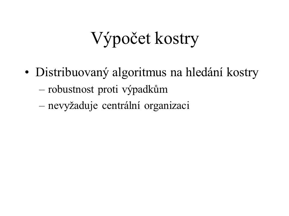 Výpočet kostry Distribuovaný algoritmus na hledání kostry