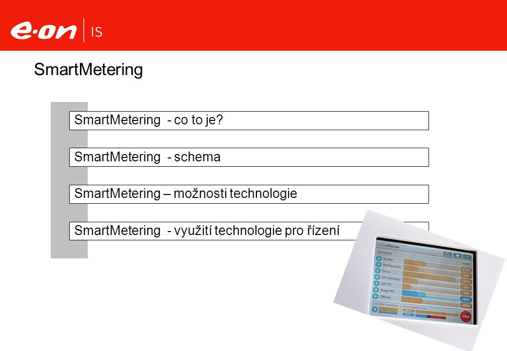 SmartMetering SmartMetering - co to je SmartMetering - schema
