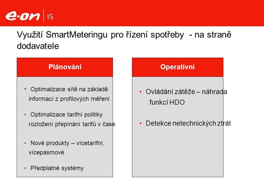 Využití SmartMeteringu pro řízení spotřeby - na straně dodavatele