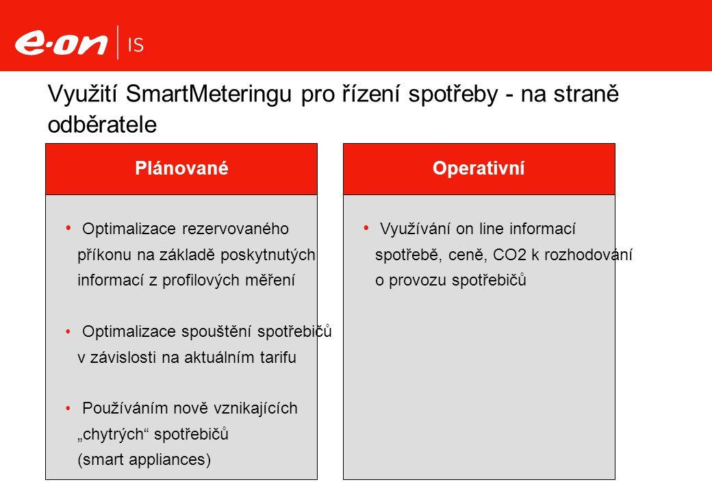 Využití SmartMeteringu pro řízení spotřeby - na straně odběratele