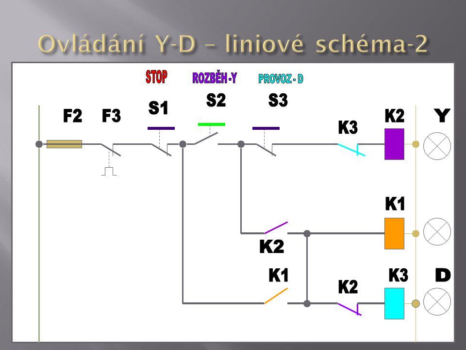 Ovládání Y-D – liniové schéma-2