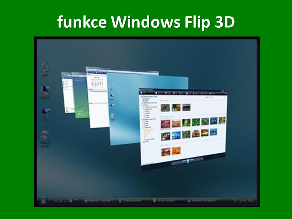 funkce Windows Flip 3D