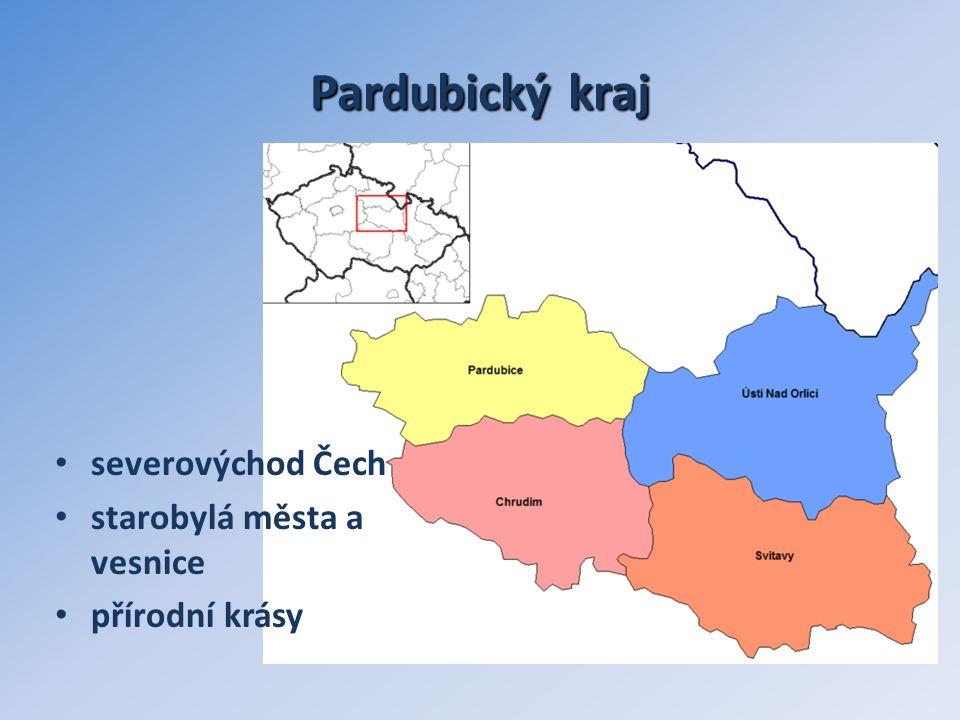 Pardubický kraj severovýchod Čech starobylá města a vesnice