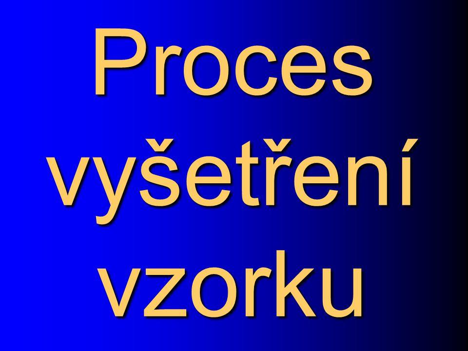Proces vyšetření vzorku