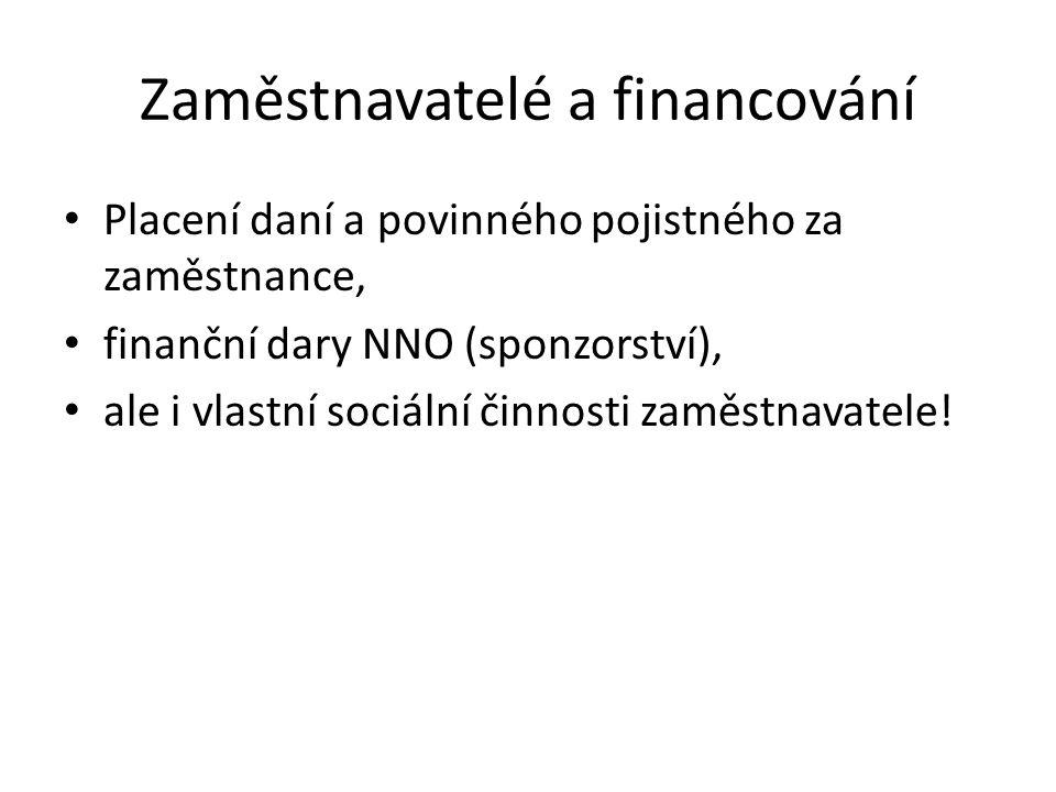 Zaměstnavatelé a financování