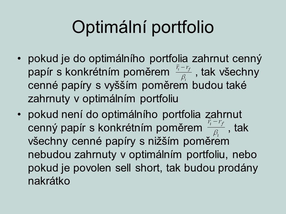 Optimální portfolio