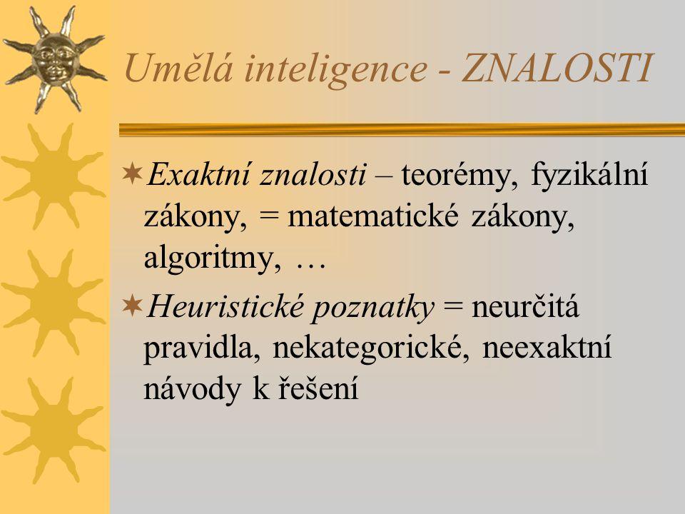 Umělá inteligence - ZNALOSTI