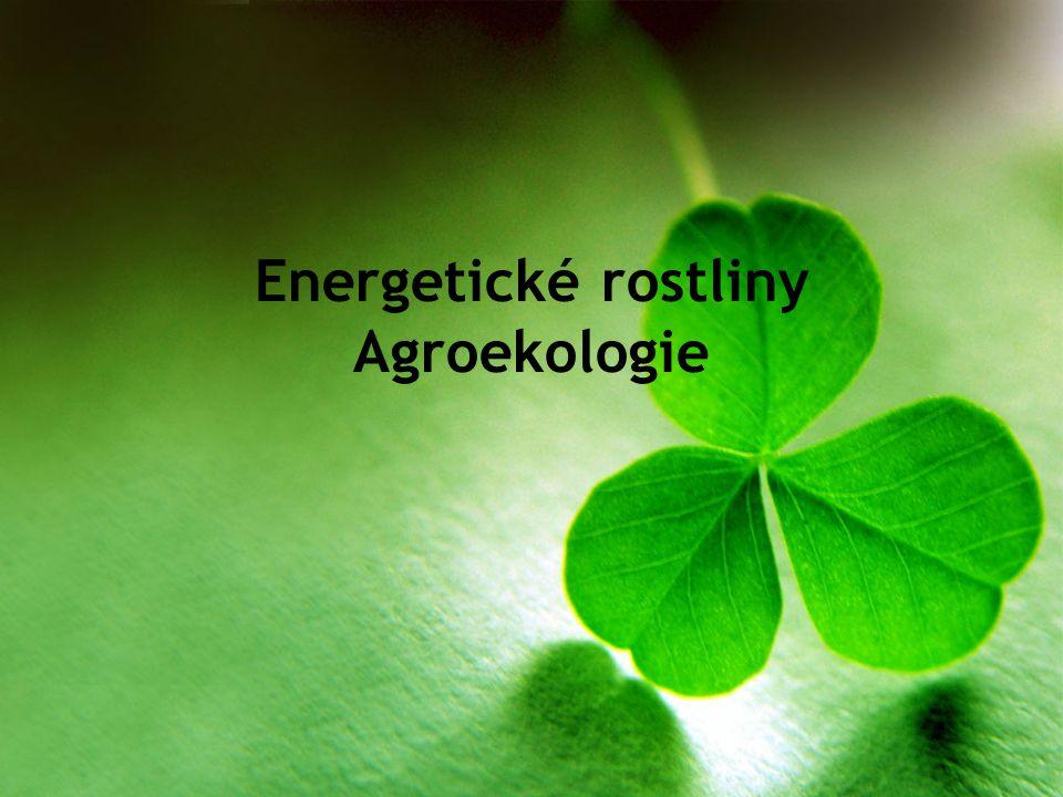 Energetické rostliny Agroekologie