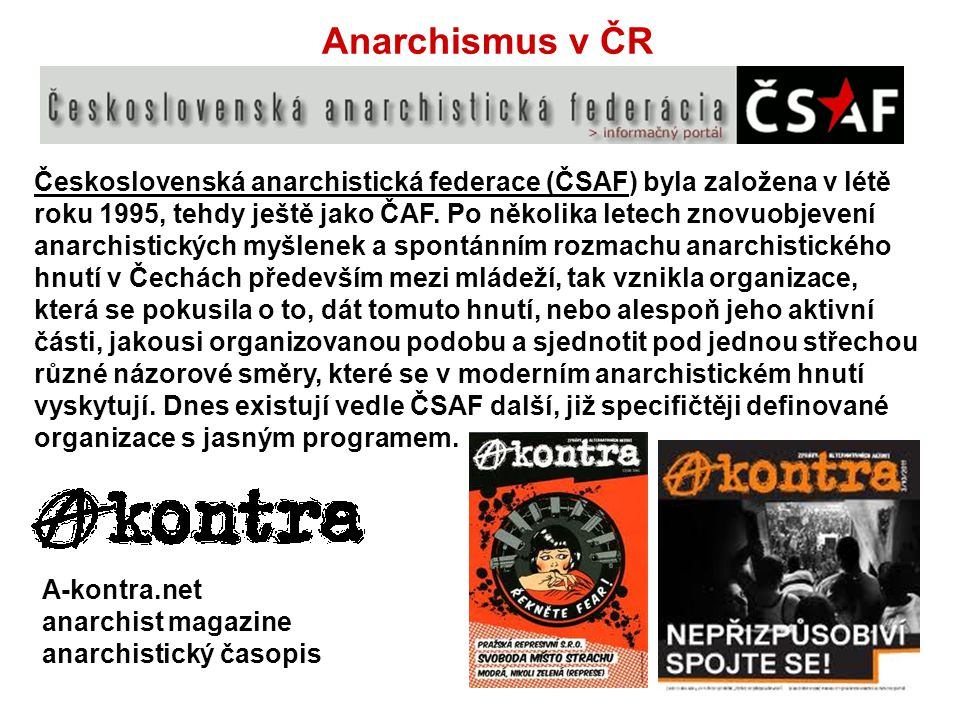 Anarchismus v ČR