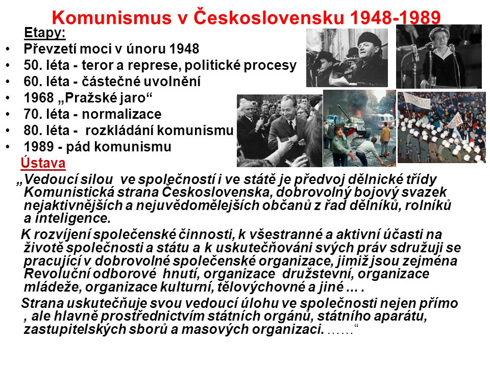 Komunismus v Československu 1948-1989