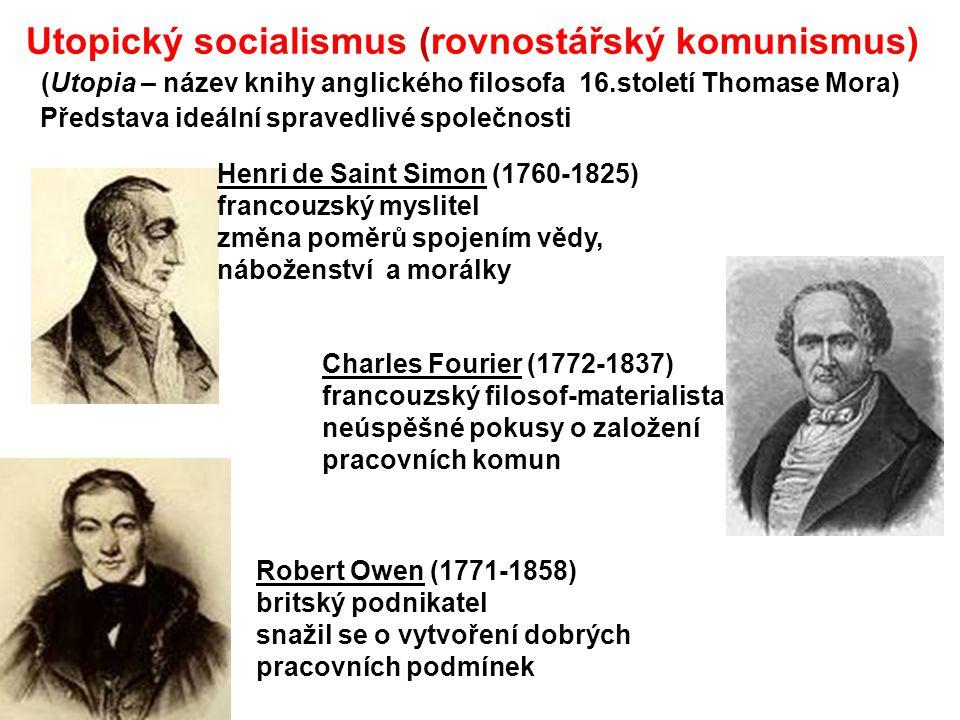Utopický socialismus (rovnostářský komunismus)