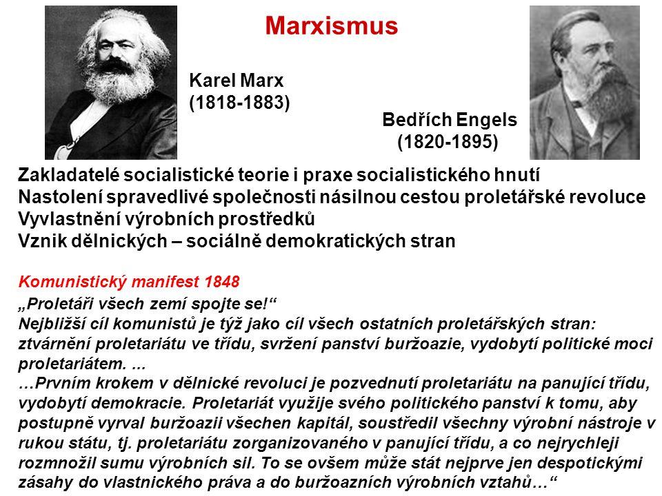 Marxismus Karel Marx (1818-1883) Bedřích Engels (1820-1895)
