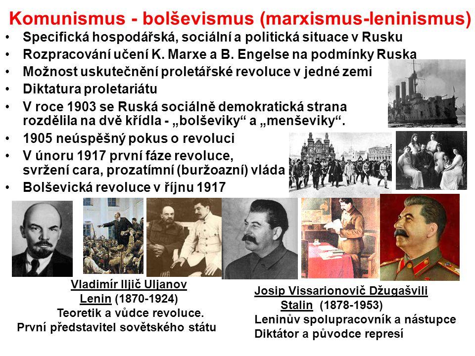 Komunismus - bolševismus (marxismus-leninismus)