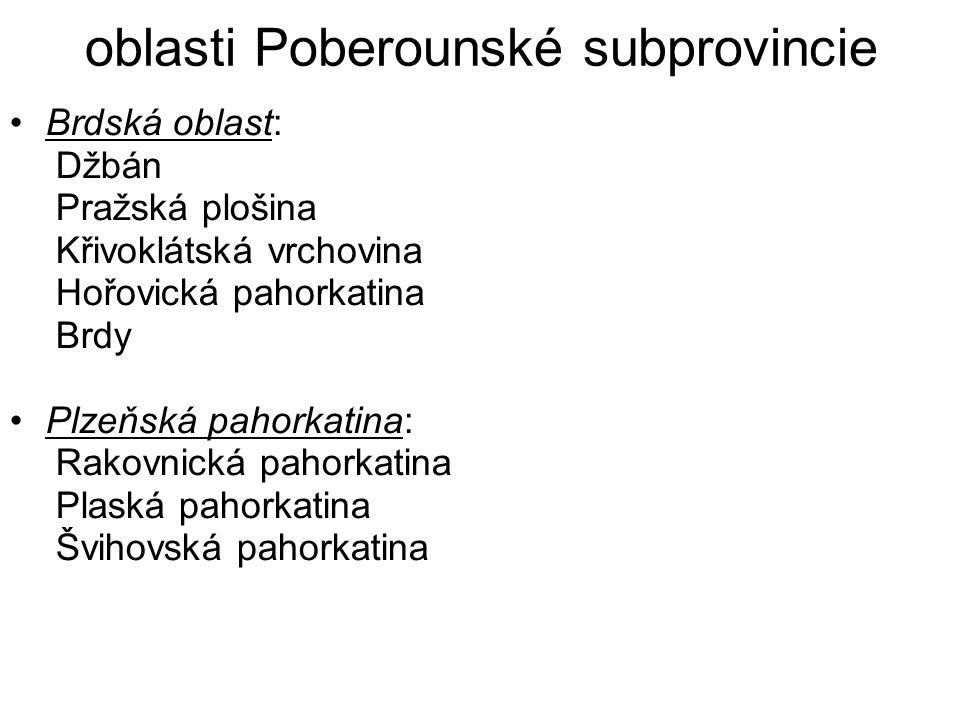 oblasti Poberounské subprovincie