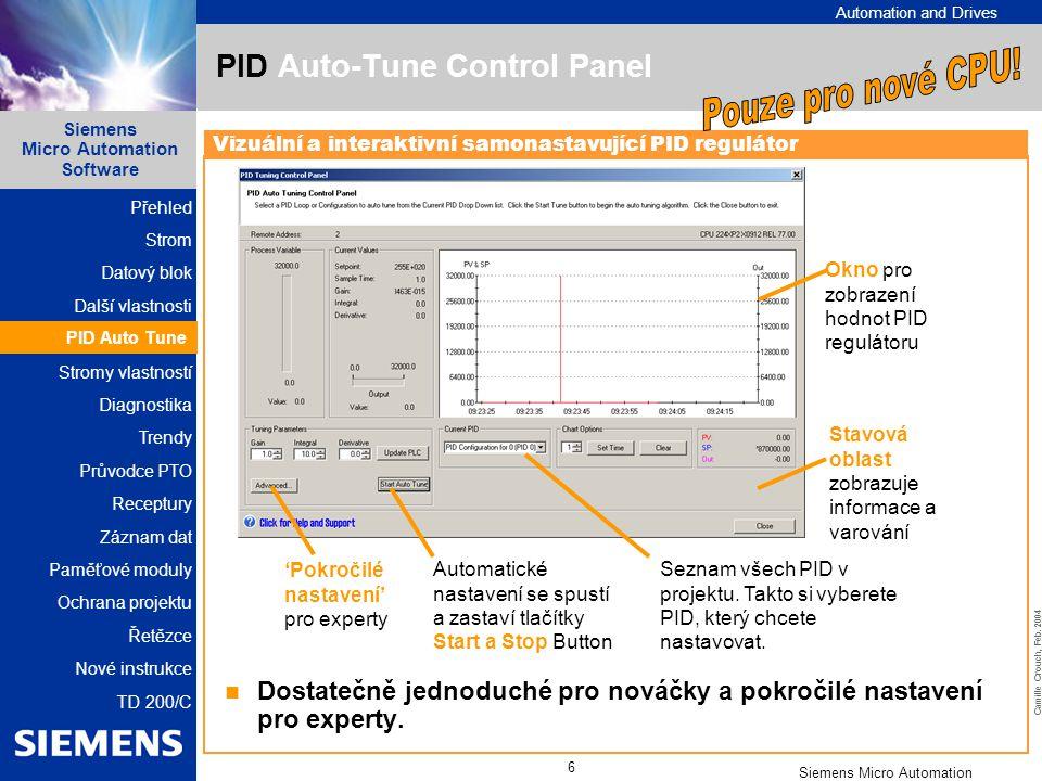PID Auto-Tune Control Panel