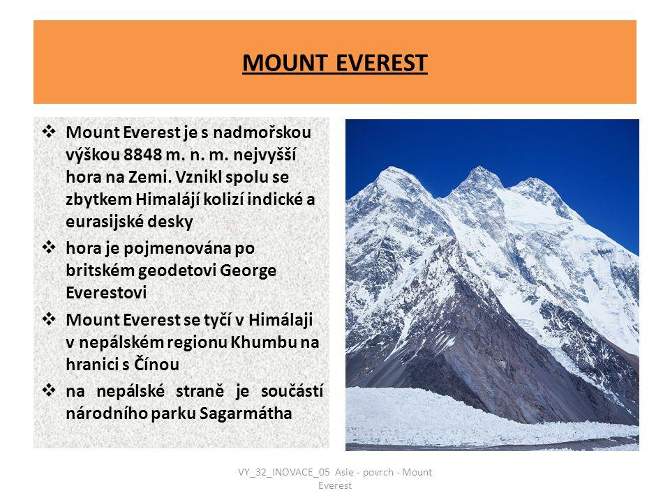VY_32_INOVACE_05 Asie - povrch - Mount Everest