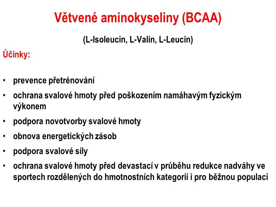 Větvené aminokyseliny (BCAA)