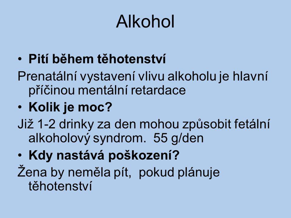 Alkohol Pití během těhotenství