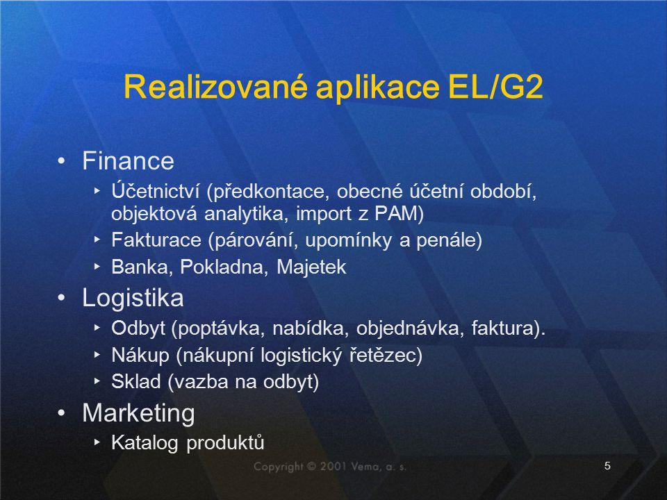 Realizované aplikace EL/G2