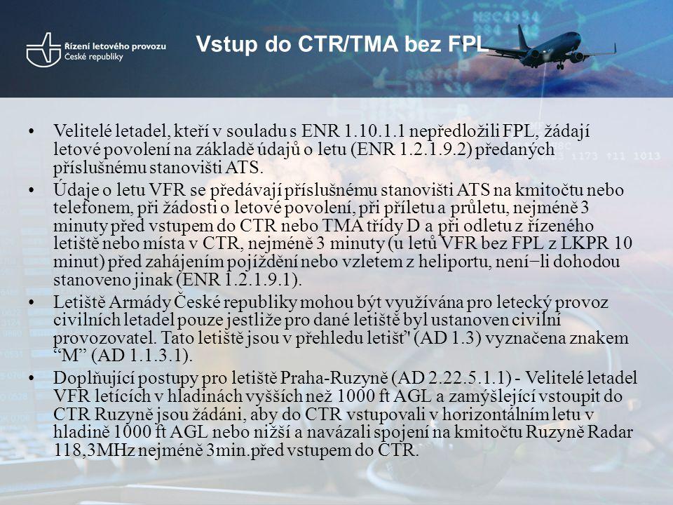 Vstup do CTR/TMA bez FPL