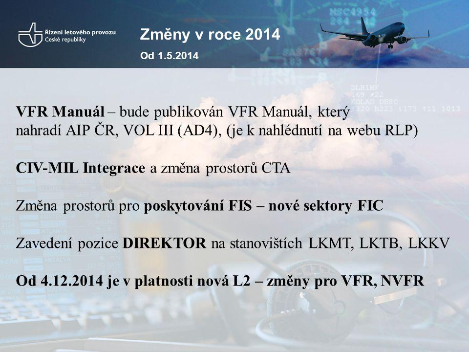VFR Manuál – bude publikován VFR Manuál, který
