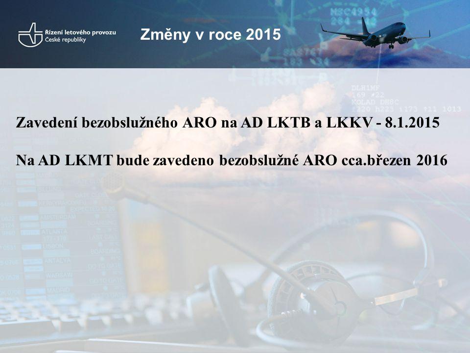 Změny v roce 2015 Zavedení bezobslužného ARO na AD LKTB a LKKV - 8.1.2015.