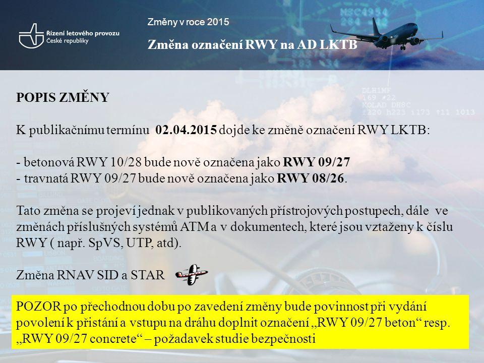 Změna označení RWY na AD LKTB