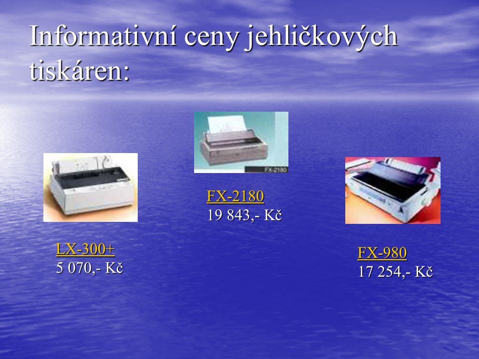 Informativní ceny jehličkových tiskáren: