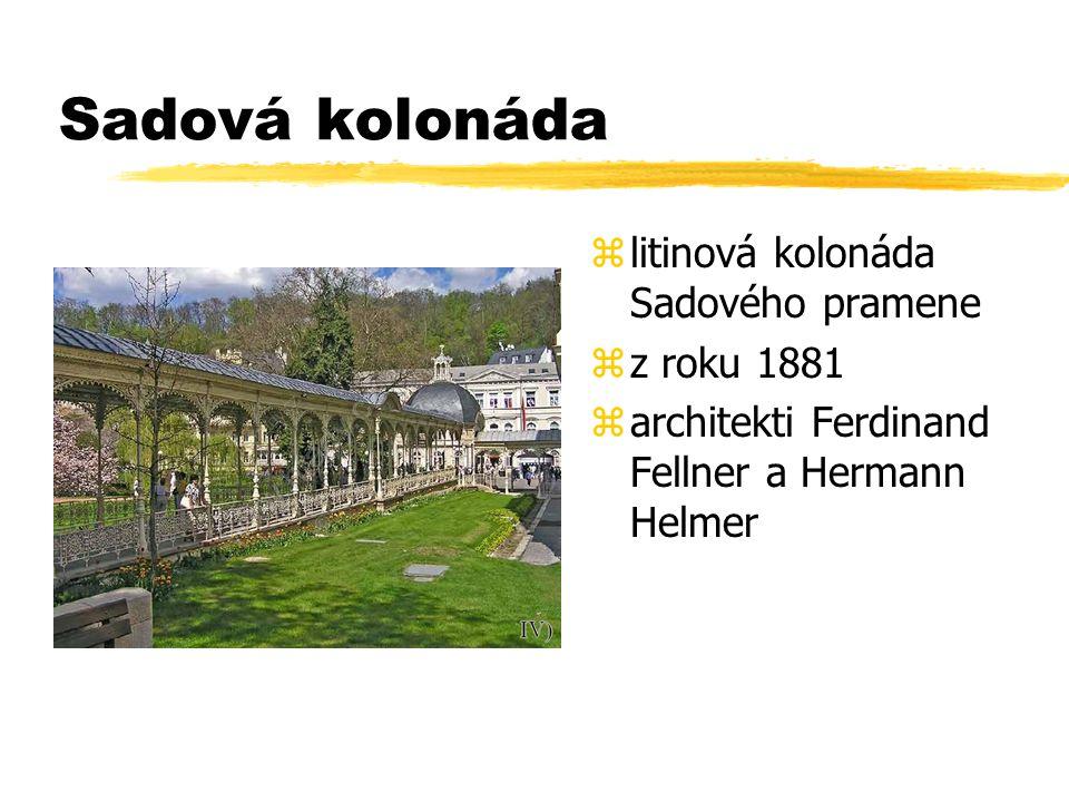 Sadová kolonáda litinová kolonáda Sadového pramene z roku 1881