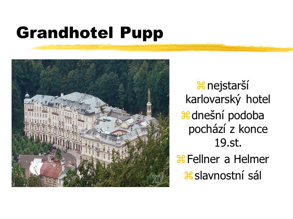 Grandhotel Pupp nejstarší karlovarský hotel