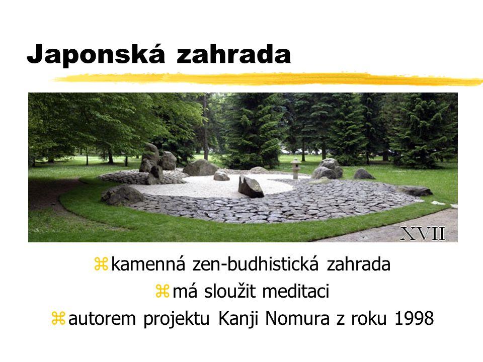 Japonská zahrada kamenná zen-budhistická zahrada má sloužit meditaci