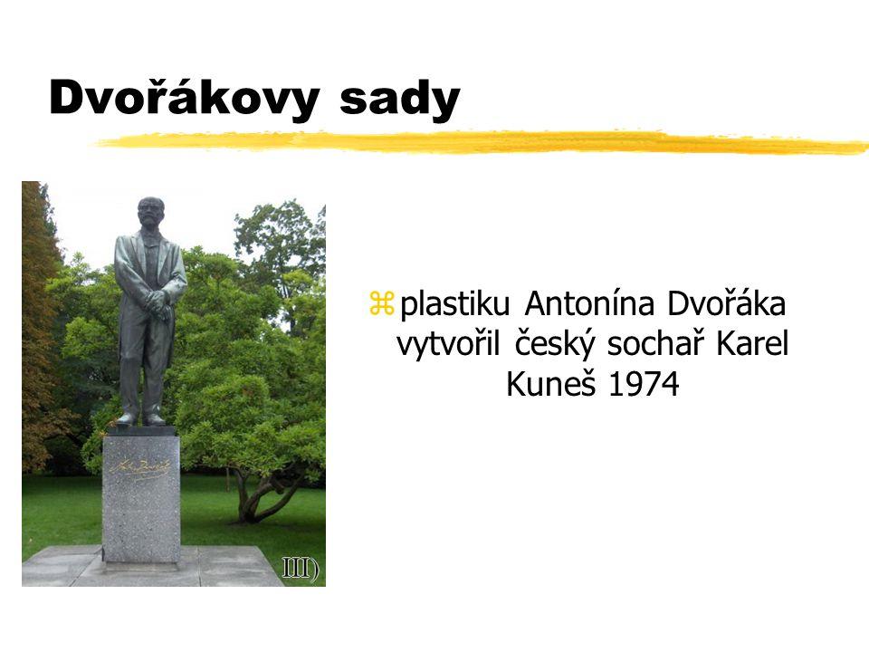 plastiku Antonína Dvořáka vytvořil český sochař Karel Kuneš 1974