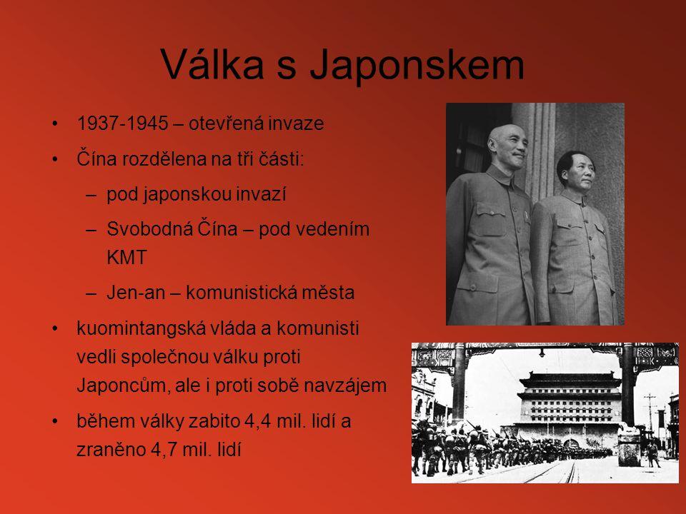 Válka s Japonskem 1937-1945 – otevřená invaze