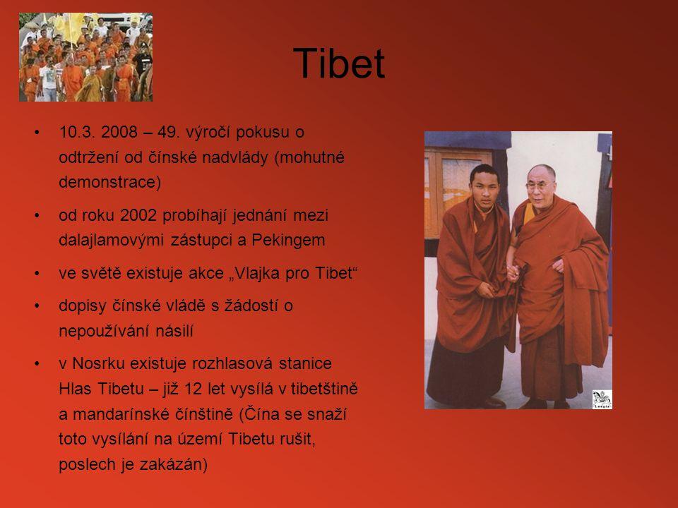 Tibet 10.3. 2008 – 49. výročí pokusu o odtržení od čínské nadvlády (mohutné demonstrace)