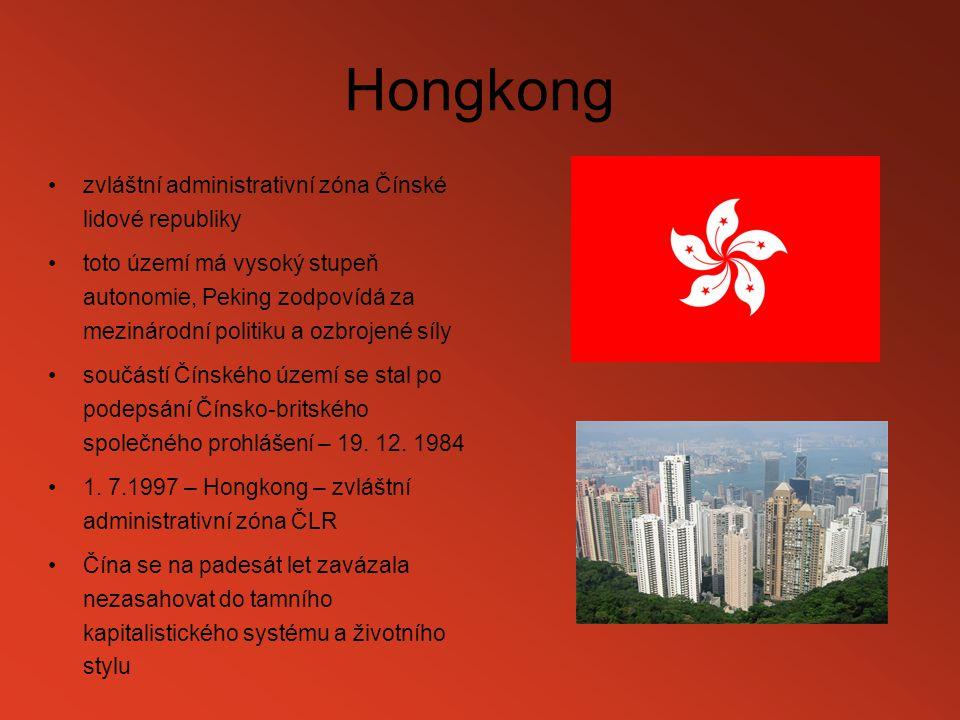 Hongkong zvláštní administrativní zóna Čínské lidové republiky